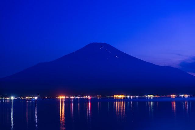 富士山・夕景~山中湖長池親水公園