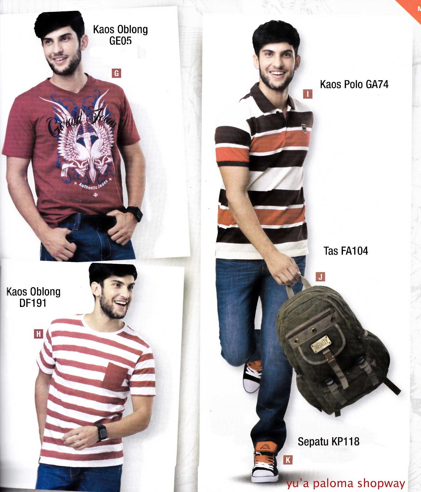 Yua Paloma Shopway Katalog 22 Pakaian Tas Pria Katalig Kaos Lelaki