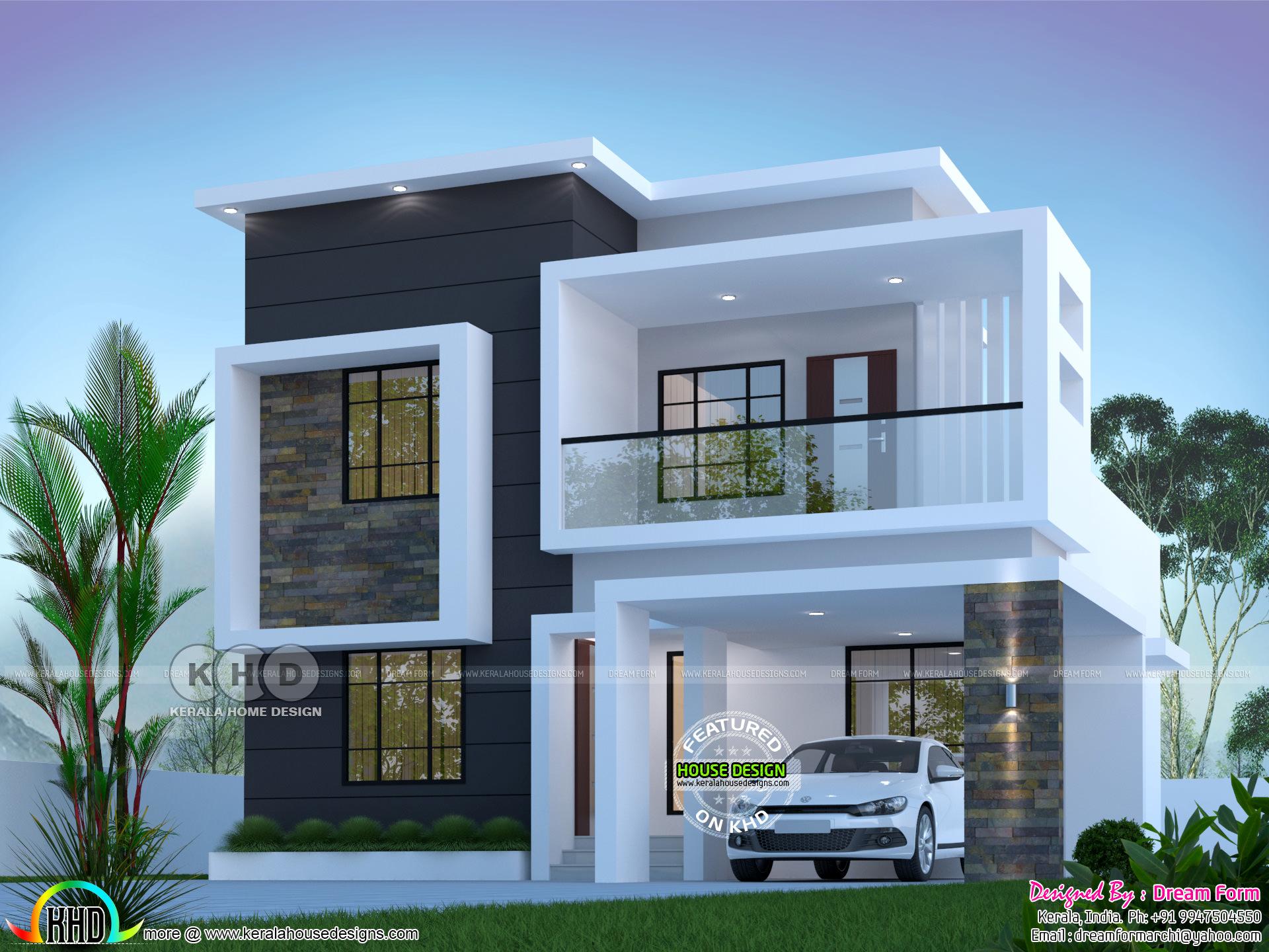 3 Bedroom 1800 Sq Ft Modern Home Design Kerala Home