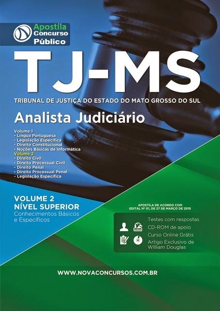 Apostila Tribunal de Justiça de TJMS - Analista Judiciário – Área fim Concurso (Campo Grande)