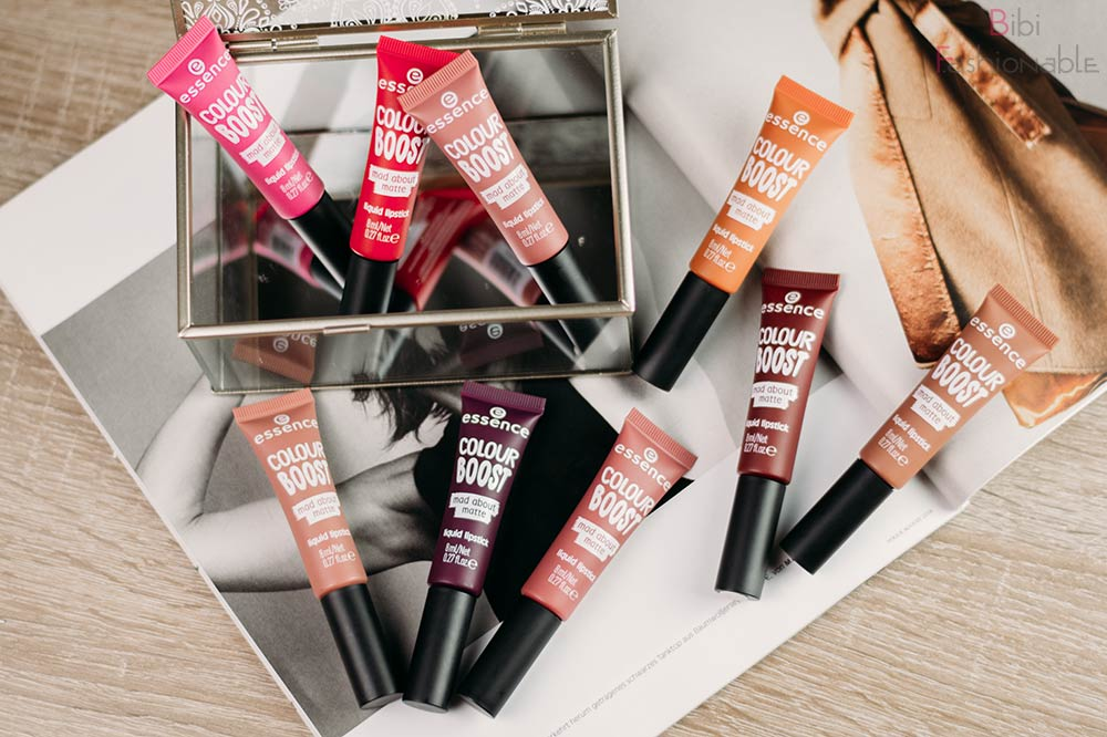 essence coulor boost mad about matte liquid lipsticks Flatlay