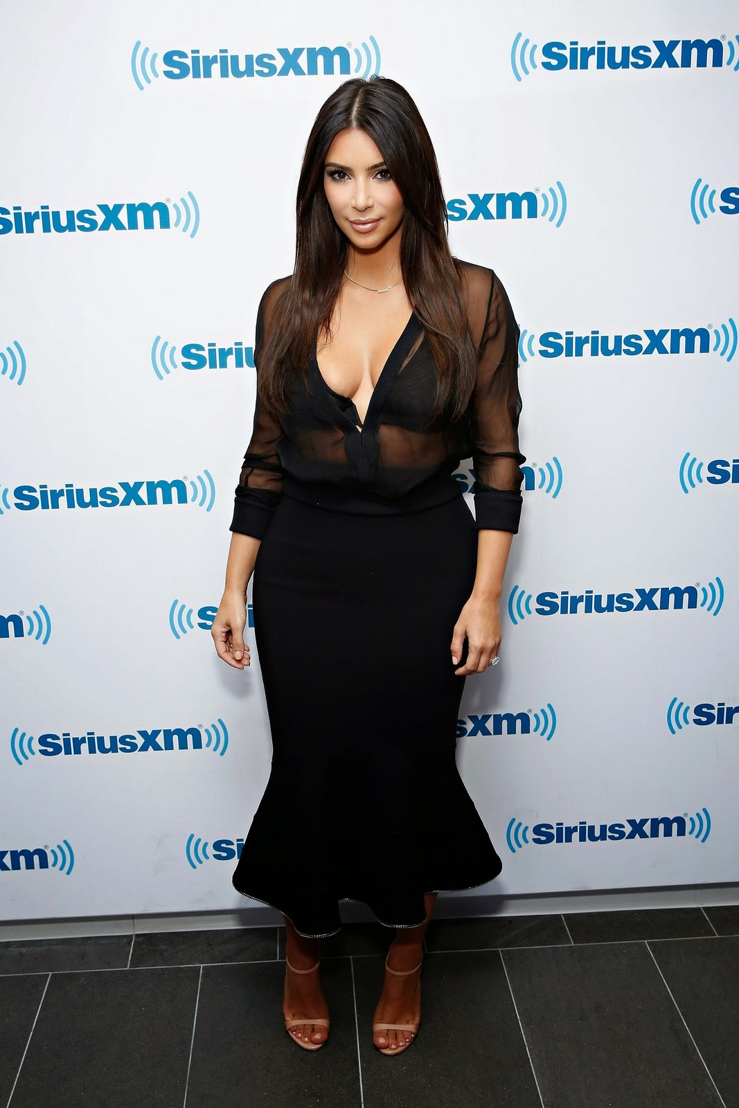 Kim In Givenchy While In NYC For Sirius XM Radio Interview
