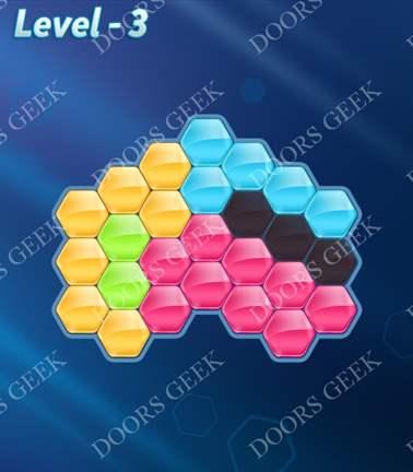 Block! Hexa Puzzle [5 Mania] Level 3 Solution, Cheats, Walkthrough for android, iphone, ipad, ipod