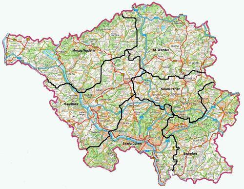 landkarte saarland Karte der Provinz Saarland | Karte von Deutschland Stadt  landkarte saarland