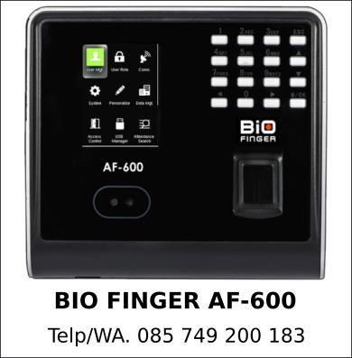Spesialis Mesin Sidik Jari Bio Finger AF-600 Original Berkualitas