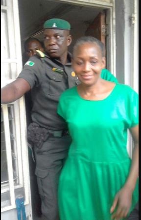 Kemi Olunloyo In Her Prison Uniform (Photos)