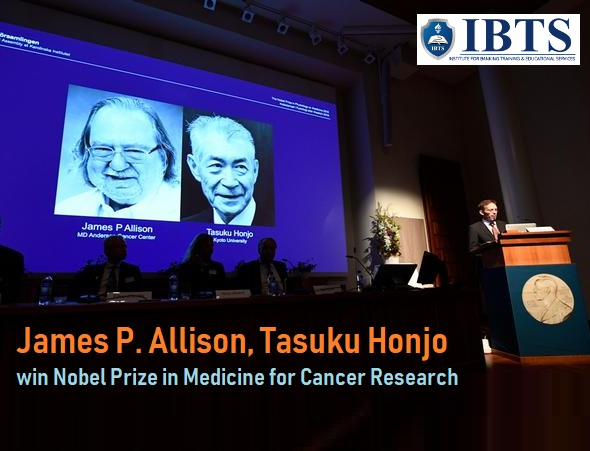 James P. Allison, Tasuku Honjo win Nobel Prize in Medicine for Cancer Research