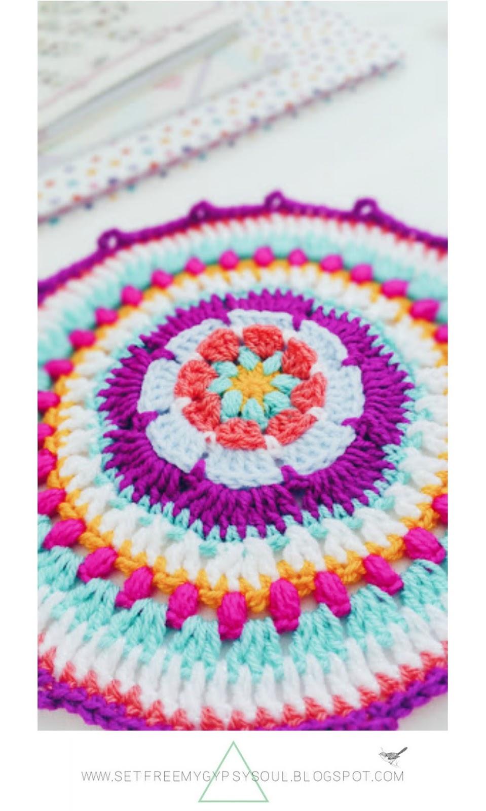 free bohemian mandala crochet pattern