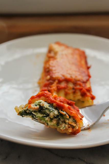 Cheese and Kale Manicotti | The Chef Next Door