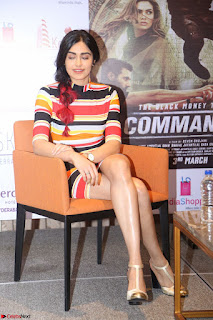 Adha Sharma in a Cute Colorful Jumpsuit Styled By Manasi Aggarwal Promoting movie Commando 2 (151).JPG