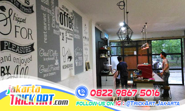 Desain Dinding Cafe, Desain Interior Cafe, Desain Mural Cafe, Jasa Mural Jakarta, Mural Cafe