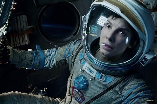 Sandra Bullock dans Gravity d'Alfonso Cuarón (2013)