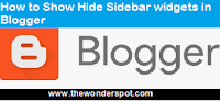 How to Show Hide Sidebar widgets in Blogger