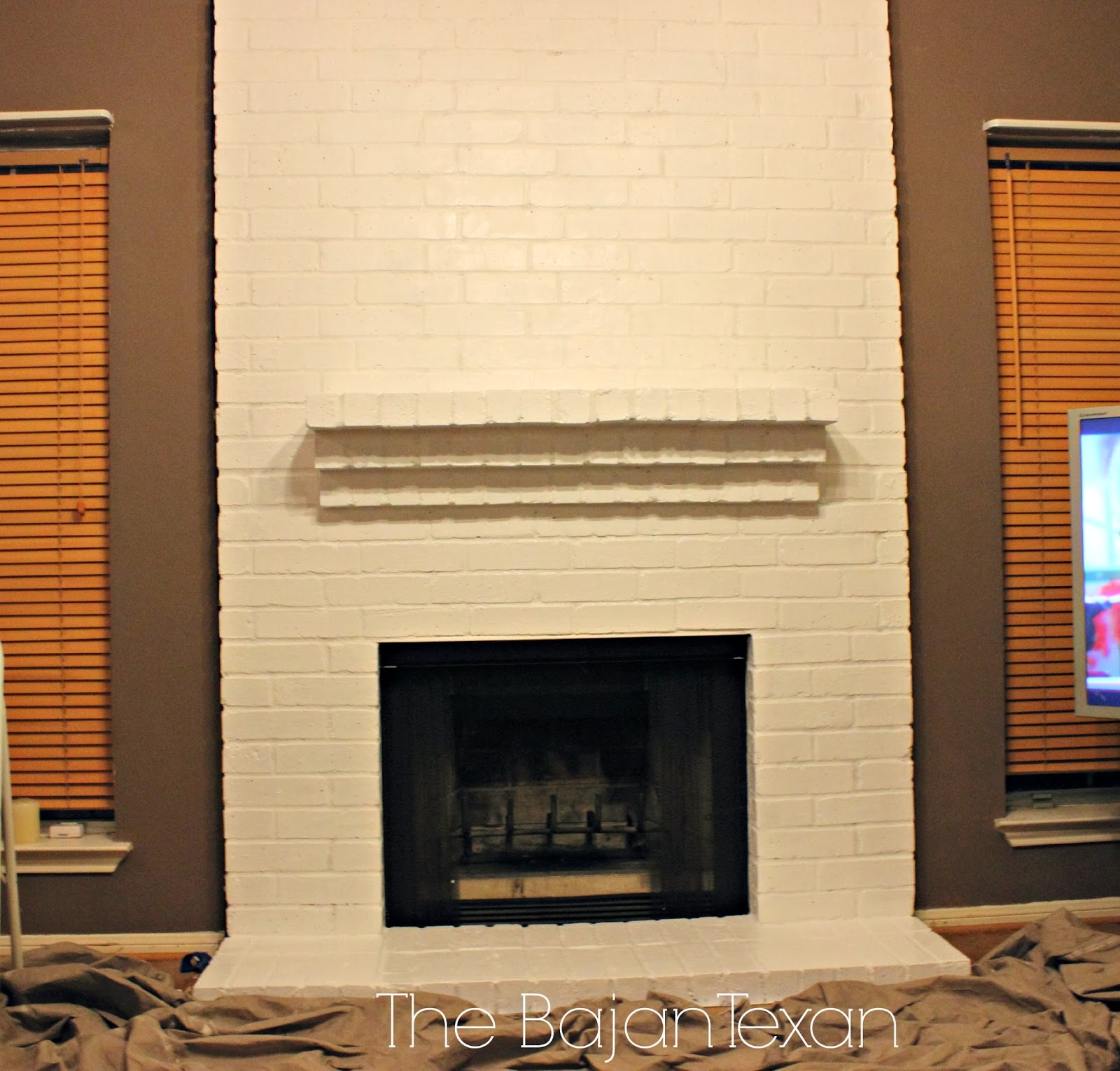 How to Paint a Brick Fireplace - Check out how I painted my friend