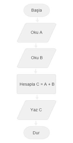 Algoritma, Akış Şeması Örneği