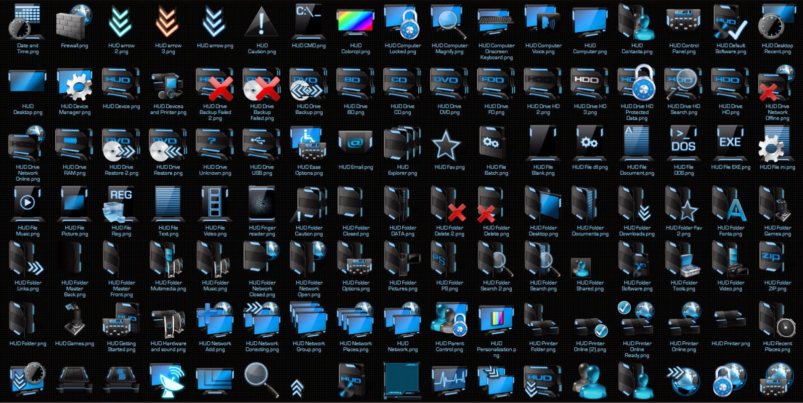 Hood Blue Icon Pack 7Tsp For Windows 7 Free Download  Mehran-2818