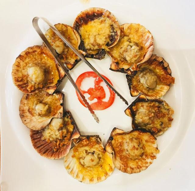 Kuya J restaurant cheesy baked scallops
