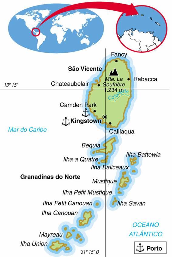 SÃO VICENTE E GRANADINAS - ASPECTOS GEOGRÁFICOS E SOCIAIS DE SÃO VICENTE E GRANADINAS