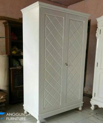 model lemari jati minimalis 2 pintu