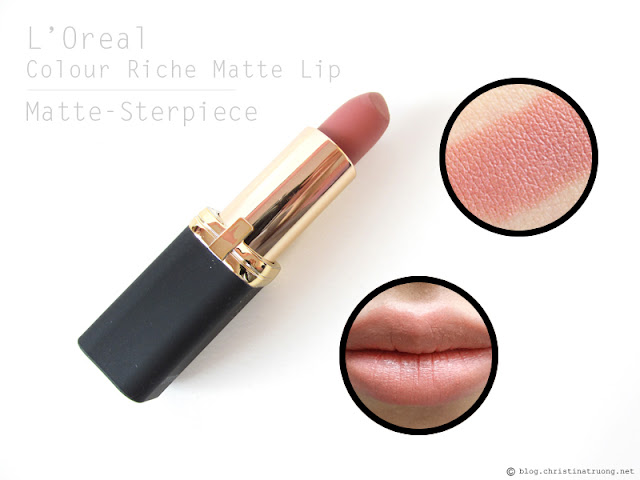 L'Oreal Colour Riche Matte Lipstick. Review and Swatches of 802 Matte-Sterpiece