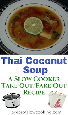 Skip the Friday night or weekend Take Out and make this Thai Coconut Curry soup at home in your very own crockpot slow cooker. This is dairy and gluten free and tastes just like your favorite restaurant made it!