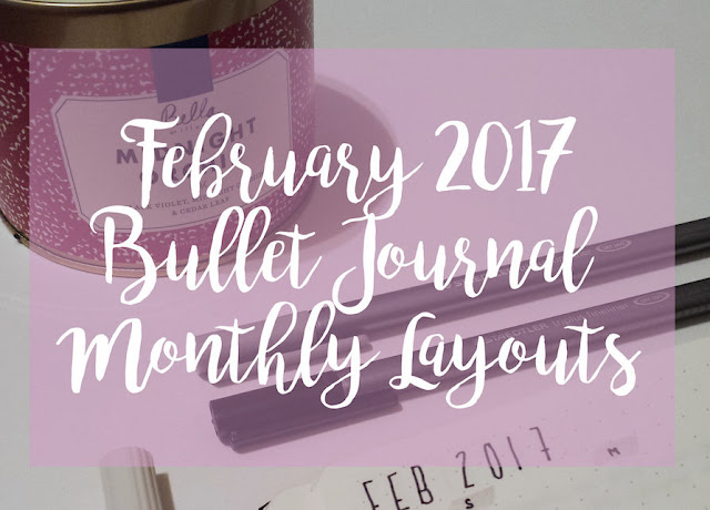 February Bullet Journal Monthly Layouts