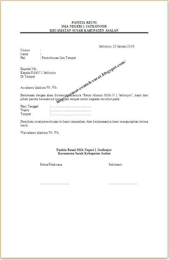 Contoh Surat Izin Menggunakan Gedung Sekolah