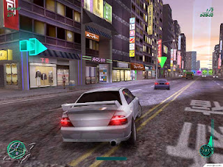 midnight club 2 game silver car turning and drifting