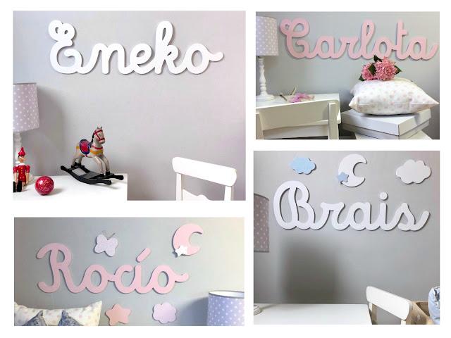 oferta en nombres decoración para pared y siluetas infantiles