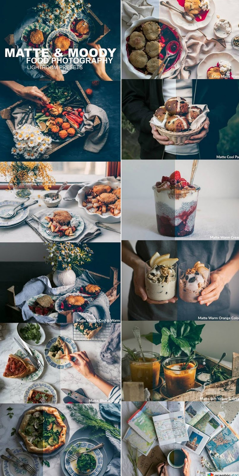 Matte & Moody Food Photography Lightroom Presets ~ Free