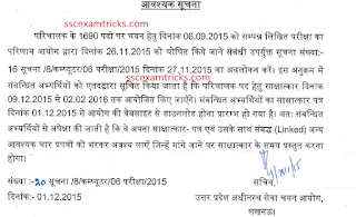 Check UPSSSC Parichalak Interview schedule 2015