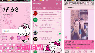 Theme Hello Kitty Only Pink for OPPO ColorOs 2018