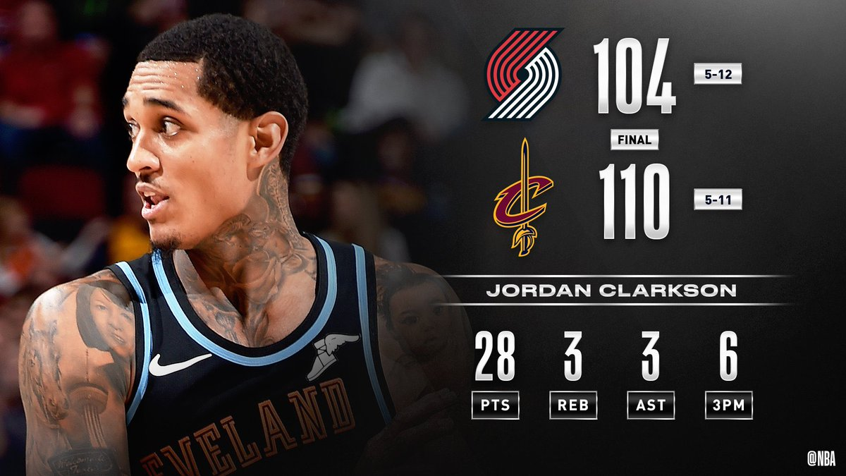 Jordan Clarkson Game Highlights vs. Trail Blazers (VIDEO) 28 PTS, 6/6 3pts!