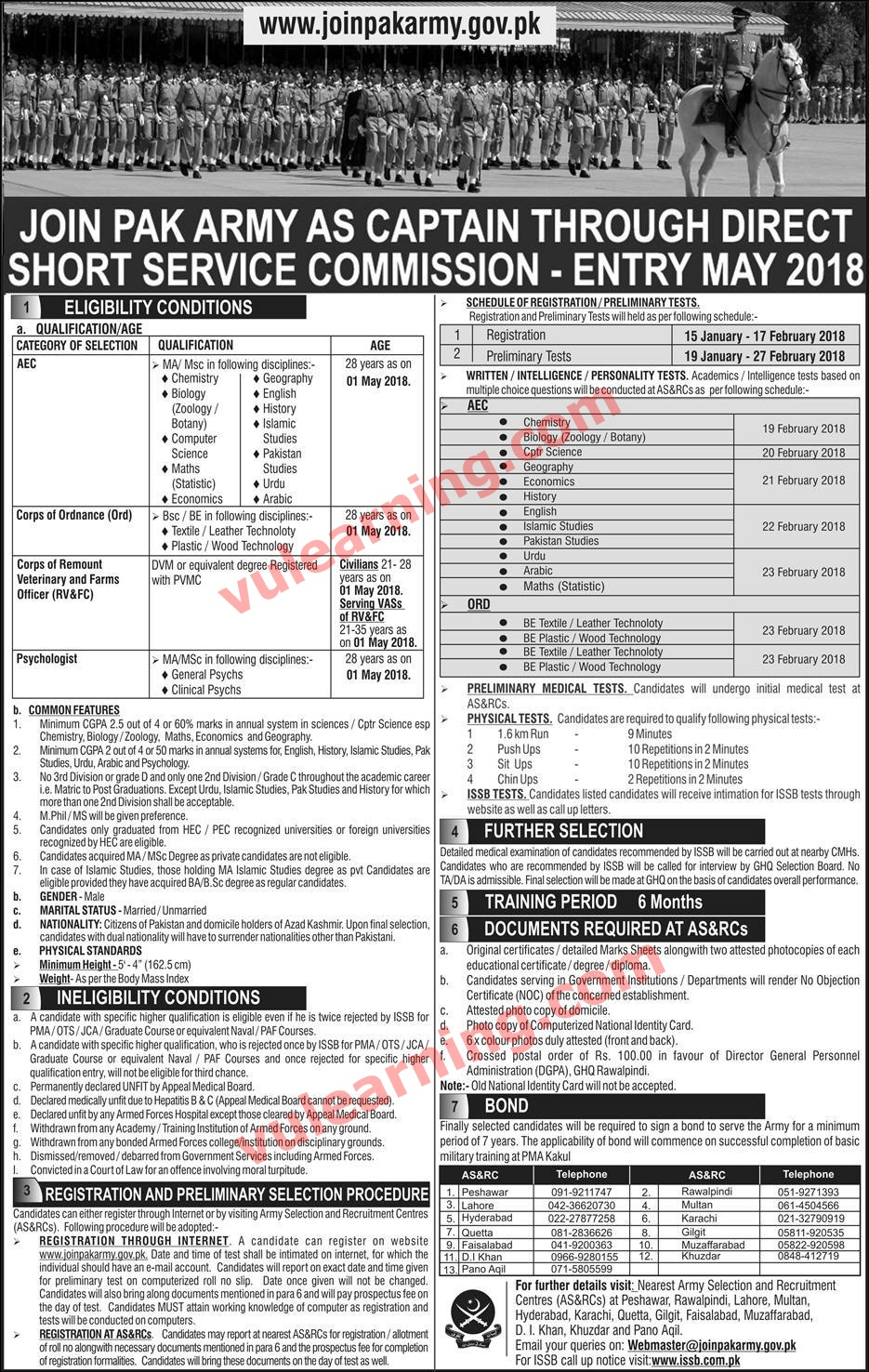 Join Pak Army as Captain through Direct Short Service Commission ...