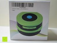 Verpackung oben: OUTAD 2-in-1 Outdoor Wireless Bluetooth Lautsprecher & LED Lampe mit eingebautem Mikrofon, einstellbarem Licht und Broadcom 3.0