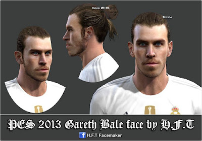 PES 2013 Gareth Bale face by H.F.T