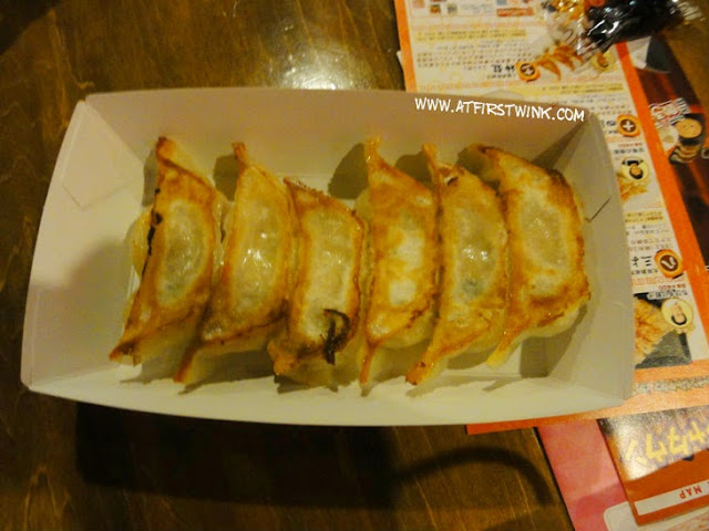 Pan-seared gyoza from Gyoza stadium in Sunshine City, Ikebukuro