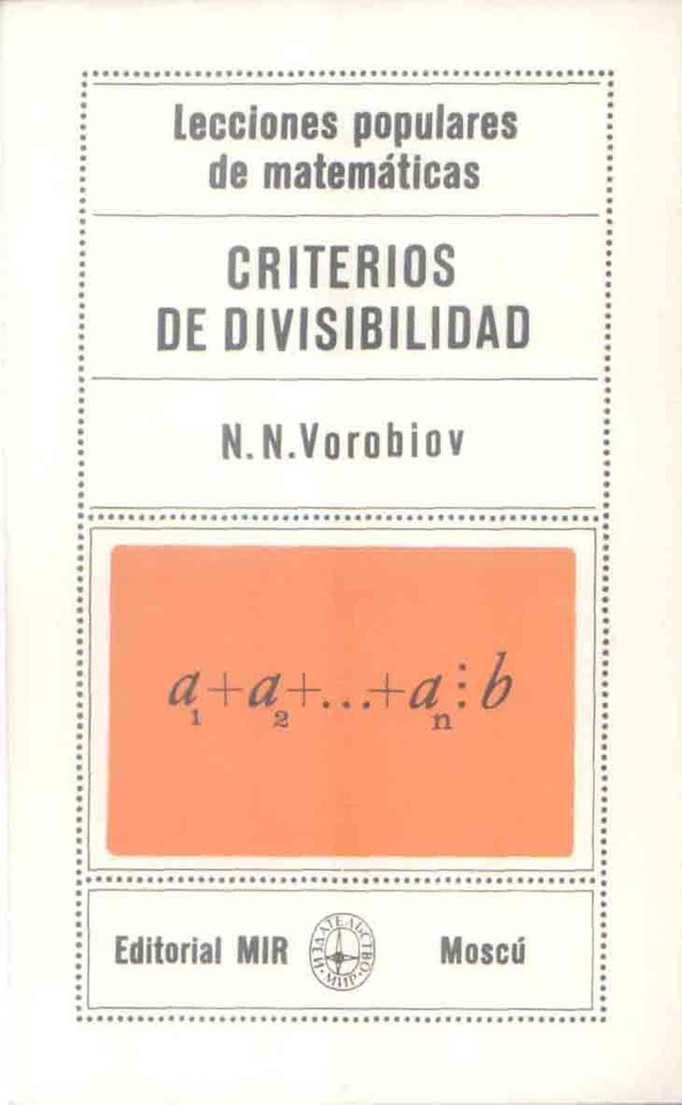 Criterios de divisibilidad – N. N. Vorobiov