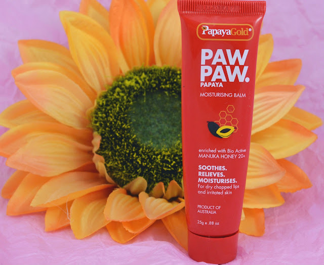 PapayaGold - Paw Paw balm - moistursing - lip care - skin care - body care - sensitive skin - multi use - handcare - dry skin - soothing - balm - fix chapped lips - swatches - review