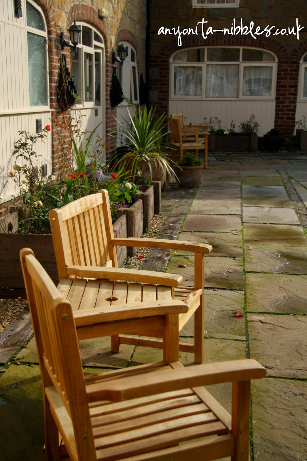 Enjoy the tranquil Ox Pasture Hall Hotel courtyard | Anyonita-nibbles.co.uk