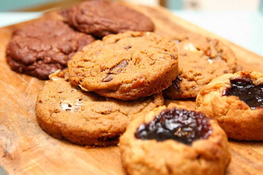 ALL THINGS GOOD cookies, Peanut Butter and Jelly, Chocolate Truffle Cookies
