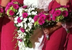 deep pink bridal bouquets