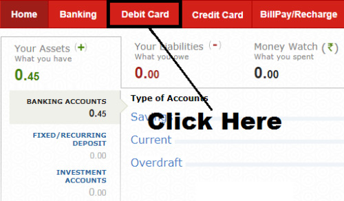 how to generate debit card pin of kotak mahindra bank online