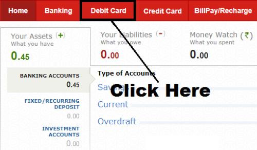 how to generate debit card pin of kotak mahindra bank online