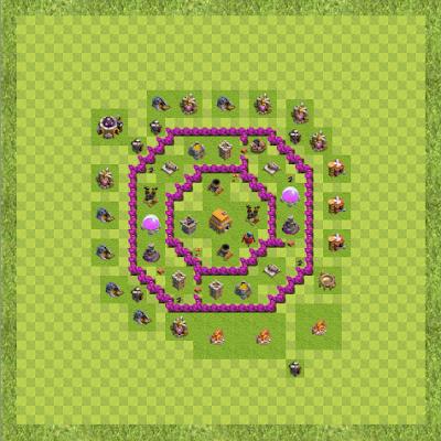 War Base Town Hall Level 6 By Chandrakala Singh (Good TH 6 Layout)