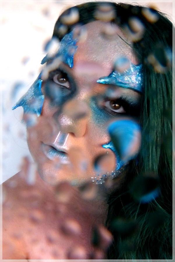 Wassermensch Make-up