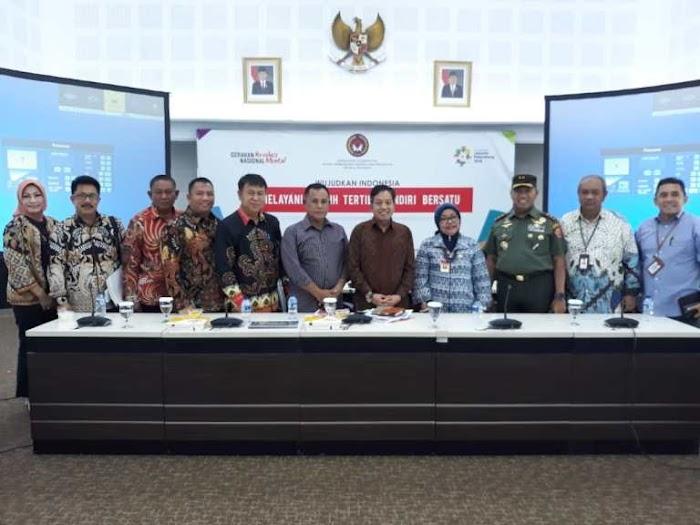 Plt Bupati Nanang Ermanto Hadiri Rakor Serta Tindak Lanjut Penanganan Bencana Di Selat Sunda.