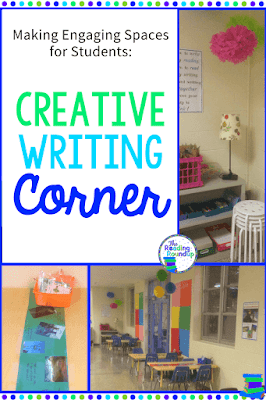 Create engaging learning spaces for your students such as this creative writing corner and reading nook.