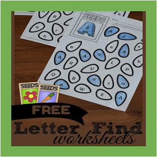 Seeds Alphabet Letter Find Coloring Worksheets