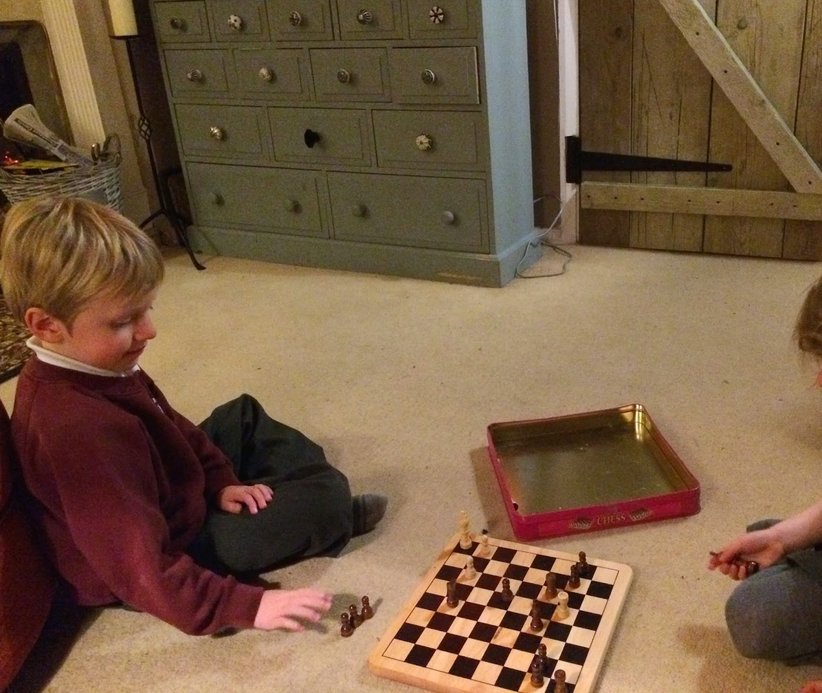 6-year-old playing chess